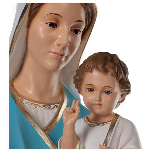 Virgen con el Niño 125cm Landi fibra de vidrio 2