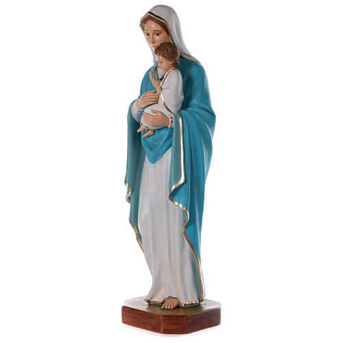 Madonna with baby Jesus statue in fiberglass, crystal eyes 125cm 3