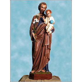 Saint Joseph statue in fiberglass, 125cm Landi s1