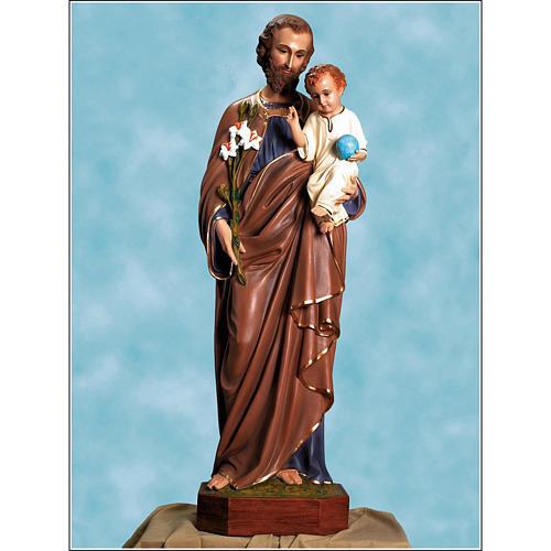 Saint Joseph statue in fiberglass, 125cm Landi 1