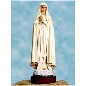 Statue Notre-Dame de Fatima fibre de verre 110cm Landi s1