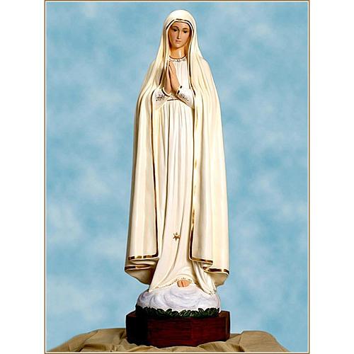 Statue Notre-Dame de Fatima fibre de verre 110cm Landi 1