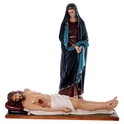 Statues Notre-Dame des Douleurs et Jésus fibre de verre Landi POU EXTÉRIEUR