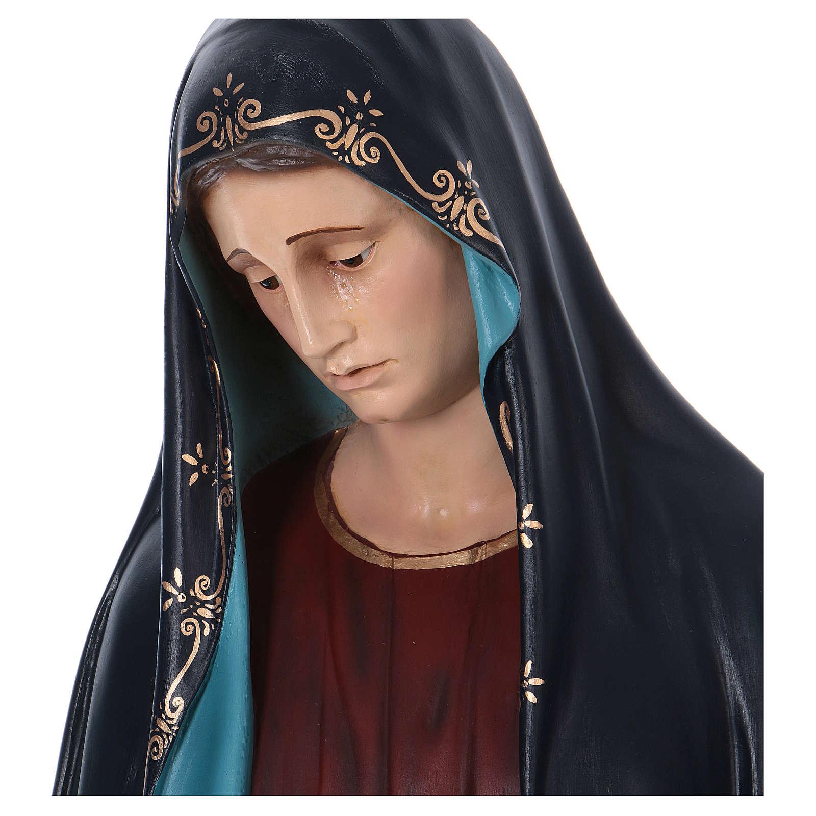 Madonna Addolorata e Gesù vetroresina Landi 4