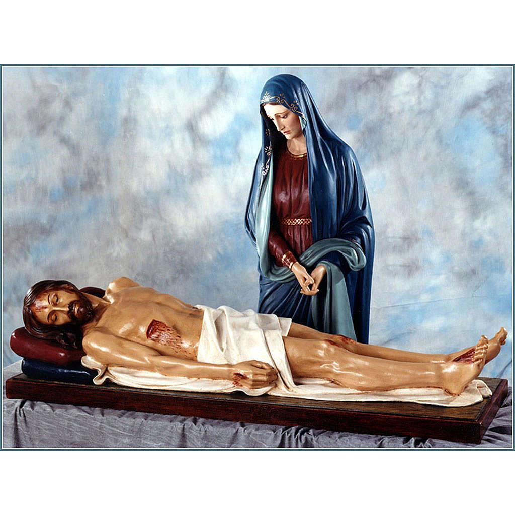 Our Lady of Sorrows, dead Jesus statue in fiberglass, 170cm Land 4