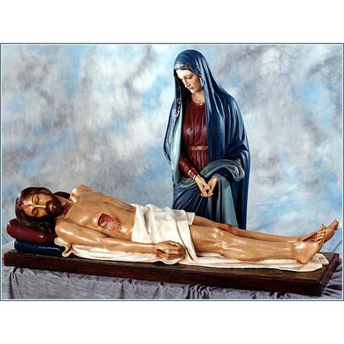 Our Lady of Sorrows, dead Jesus statue in fiberglass, 170cm Land 1