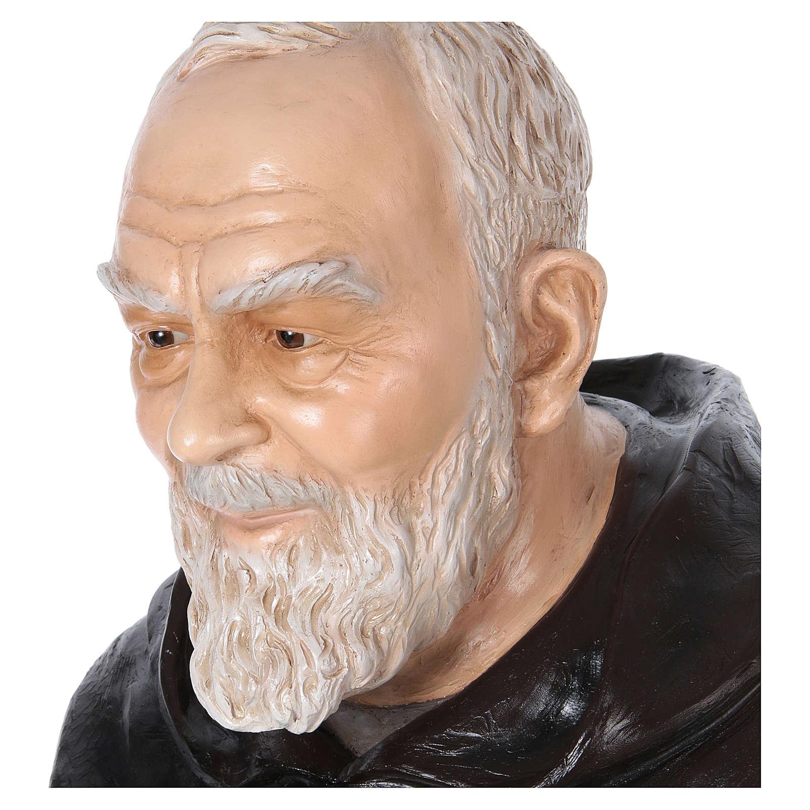 Statue Saint Pio de Pietrelcina fibre de verre 175cm Landi POUR EXTÉRIEUR 4