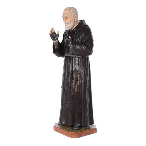 Statue Saint Pio de Pietrelcina fibre de verre 175cm Landi POUR EXTÉRIEUR 2