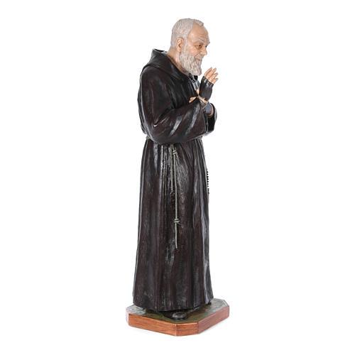 Statue Saint Pio de Pietrelcina fibre de verre 175cm Landi POUR EXTÉRIEUR 3