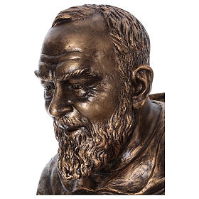 San Pio vetroresina Landi 175 cm bronzo PER ESTERNO s3
