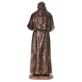 San Pio vetroresina Landi 175 cm bronzo PER ESTERNO s10
