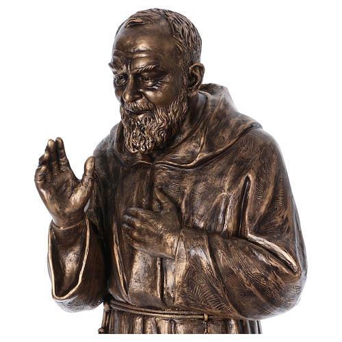 San Pio vetroresina Landi 175 cm bronzo PER ESTERNO 2