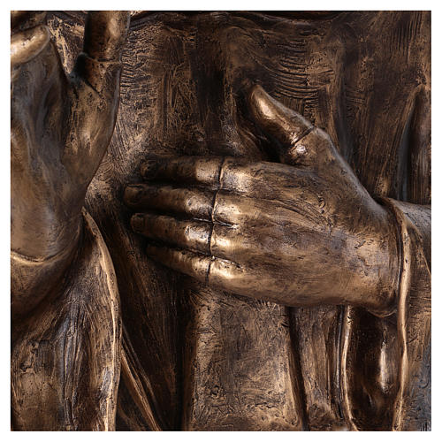 San Pio vetroresina Landi 175 cm bronzo PER ESTERNO 7