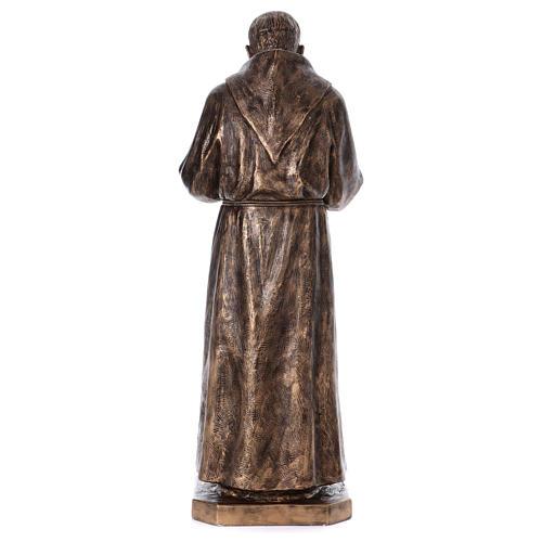 San Pio vetroresina Landi 175 cm bronzo PER ESTERNO 10