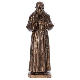 Święty Pio włókno szklane Landi 175 cm brąz s1