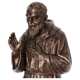 Święty Pio włókno szklane Landi 175 cm brąz s2