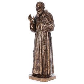 Święty Pio włókno szklane Landi 175 cm brąz s4