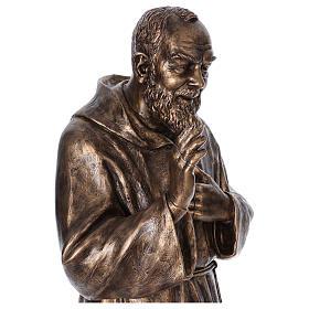 Święty Pio włókno szklane Landi 175 cm brąz s5