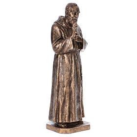 Święty Pio włókno szklane Landi 175 cm brąz s6