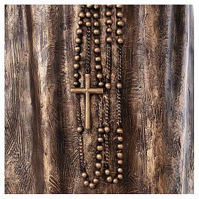 Święty Pio włókno szklane Landi 175 cm brąz s8
