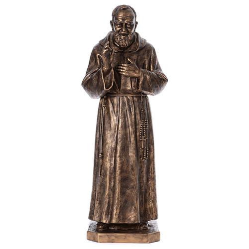 Święty Pio włókno szklane Landi 175 cm brąz 1