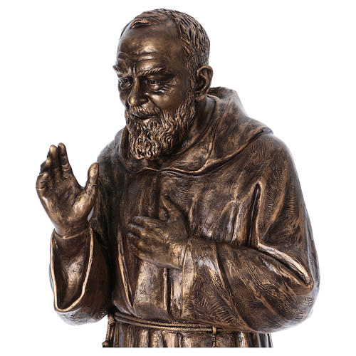 Święty Pio włókno szklane Landi 175 cm brąz 2