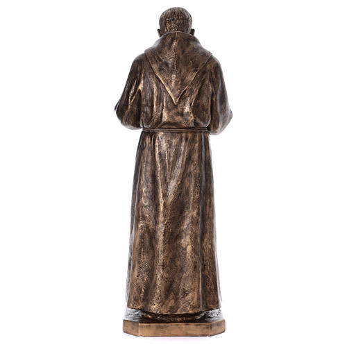 Święty Pio włókno szklane Landi 175 cm brąz 10