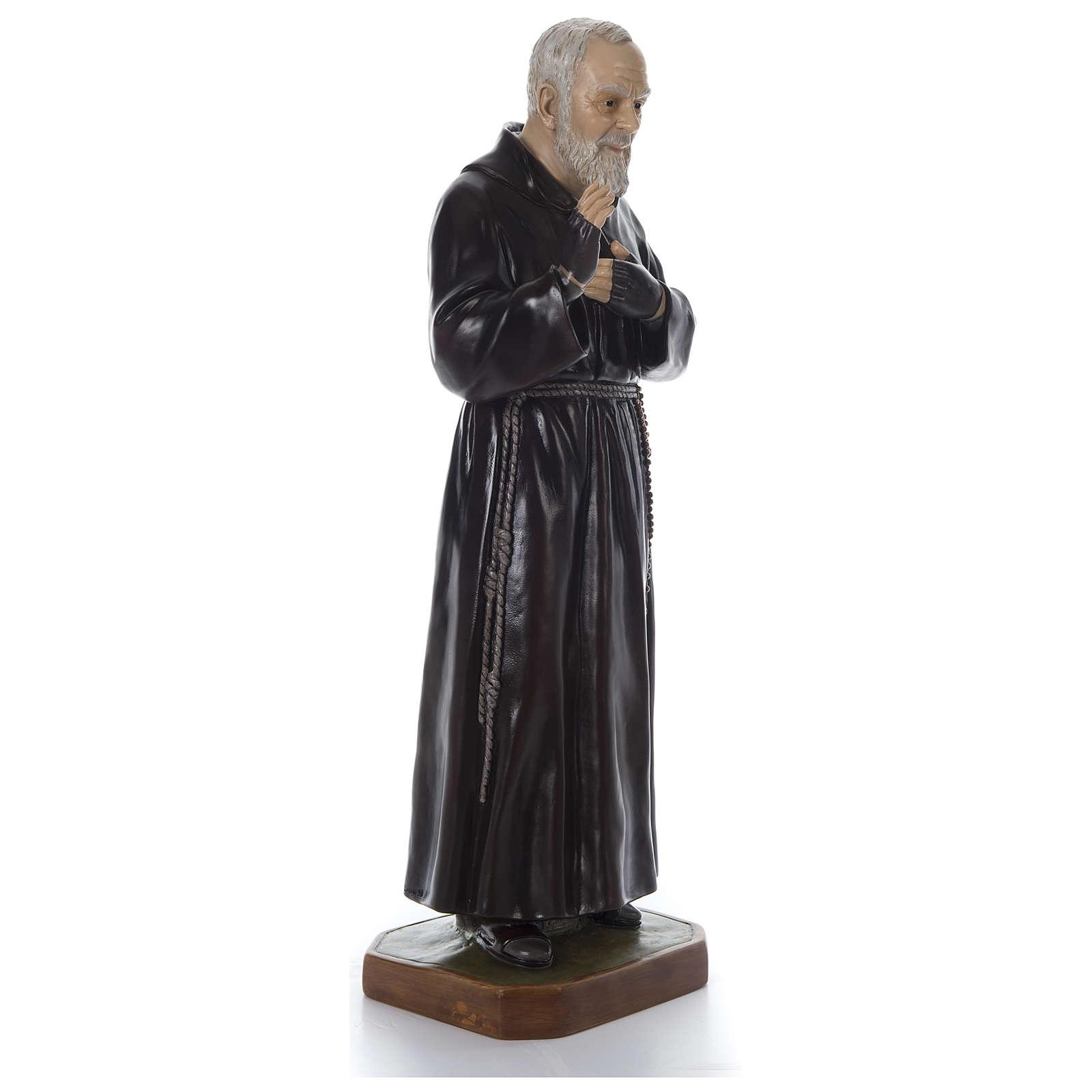 Padre Pio of Pietralcina statue in fiberglass, 125 cm by Landi 4