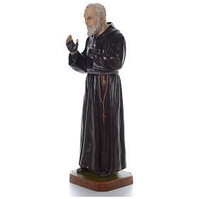 Padre Pio of Pietralcina statue in fiberglass, 125 cm by Landi s3