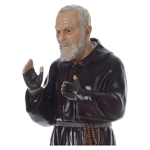 Padre Pio of Pietralcina statue in fiberglass, 125 cm by Landi 2