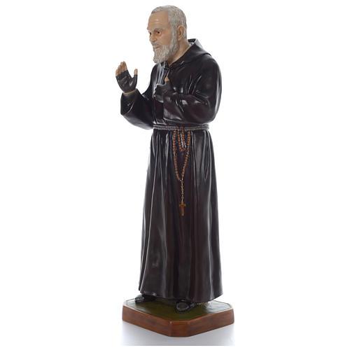 Padre Pio of Pietralcina statue in fiberglass, 125 cm by Landi 3
