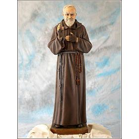 Padre Pio of Pietralcina statue in fiberglass, 100 cm by Landi s1