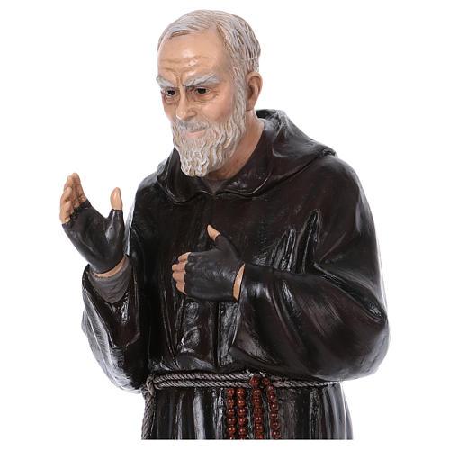 Padre Pio of Pietralcina statue in fiberglass, 100 cm by Landi 2