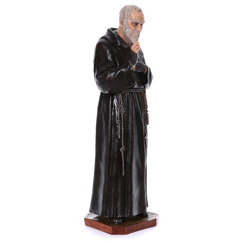 Padre Pio of Pietralcina statue in fiberglass, 100 cm by Landi 4
