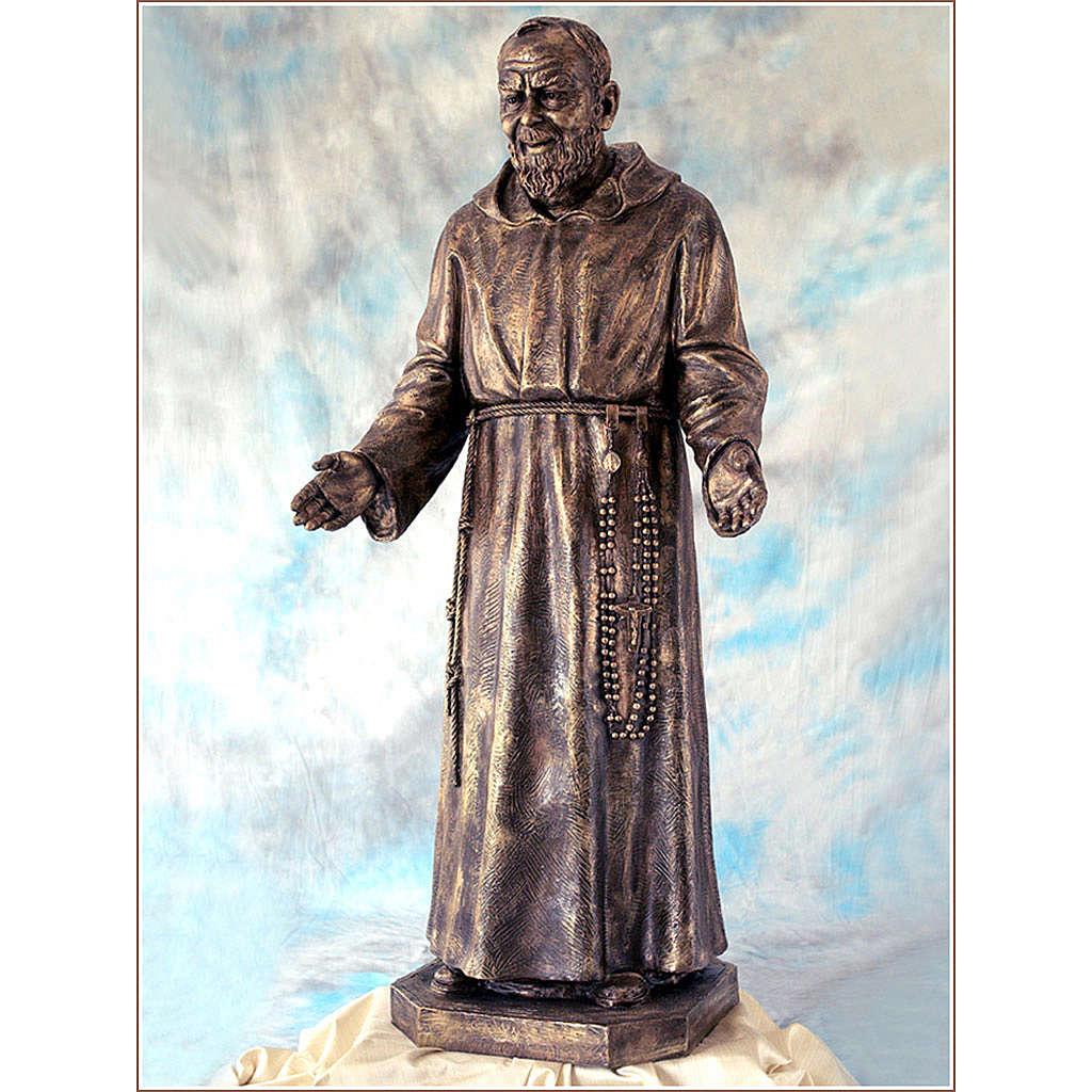 Padre Pio vetroresina Landi 150 cm bronzo PER ESTERNO 4