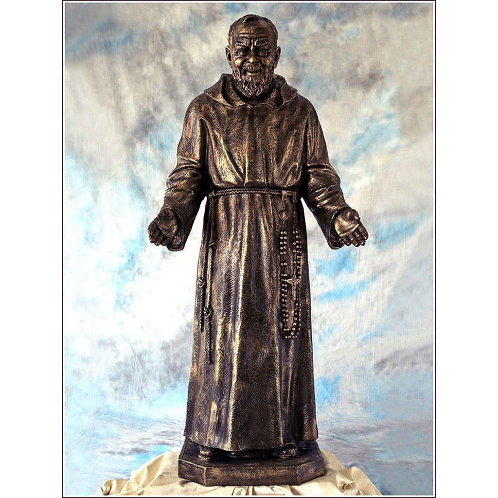 Ojciec Pio włókno szklane Landi 150 cm brąz 4