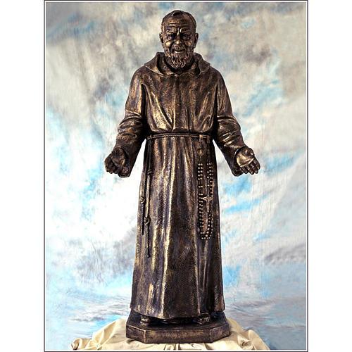 Ojciec Pio włókno szklane Landi 150 cm brąz 1