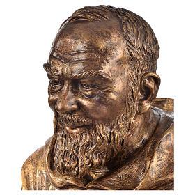 Padre Pio of Pietralcina bust in fiberglass, bronze, 60 cm Landi s2
