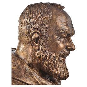 Padre Pio of Pietralcina bust in fiberglass, bronze, 60 cm Landi s3