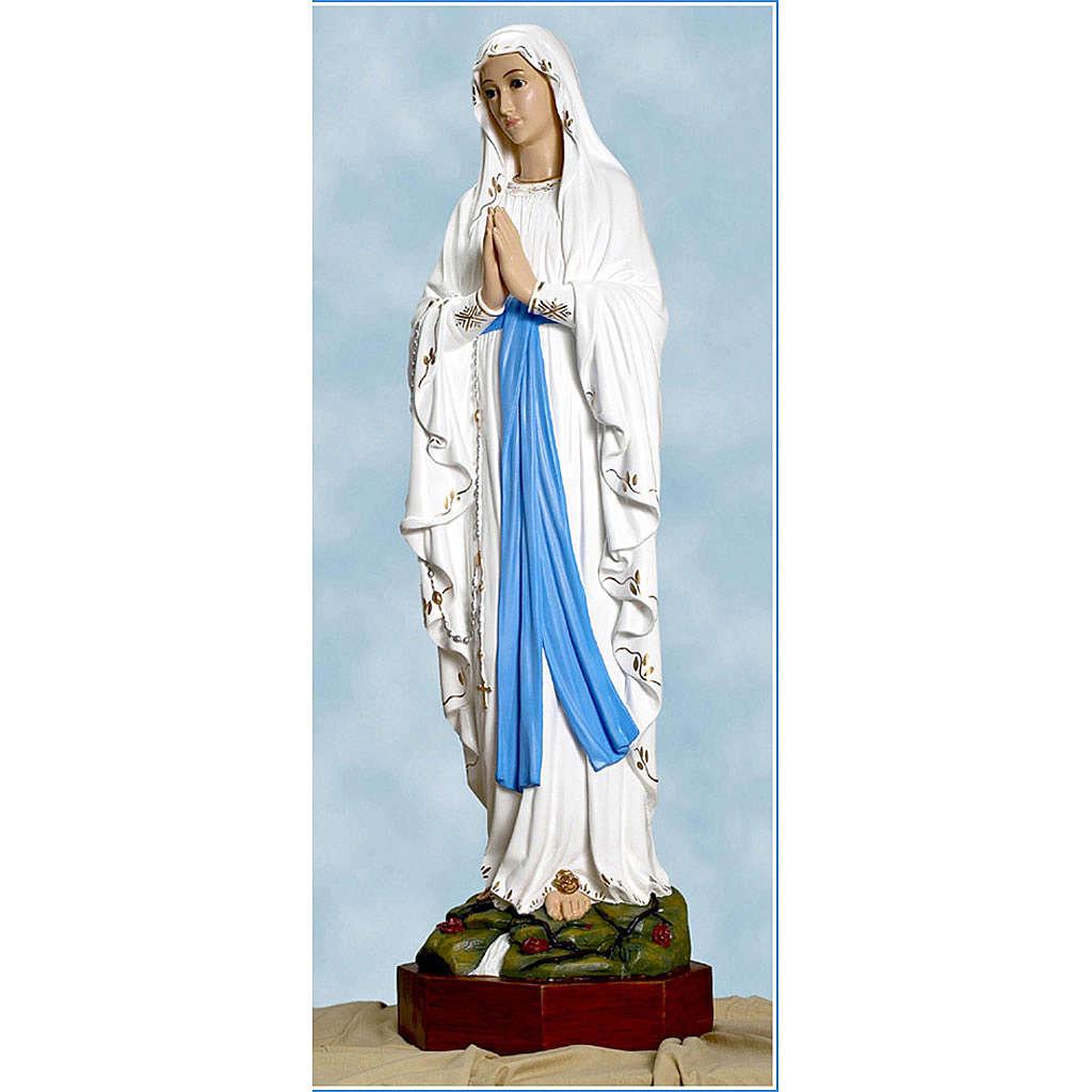 Statue Notre-Dame de Lourdes fibre de verre 110cm Landi 4