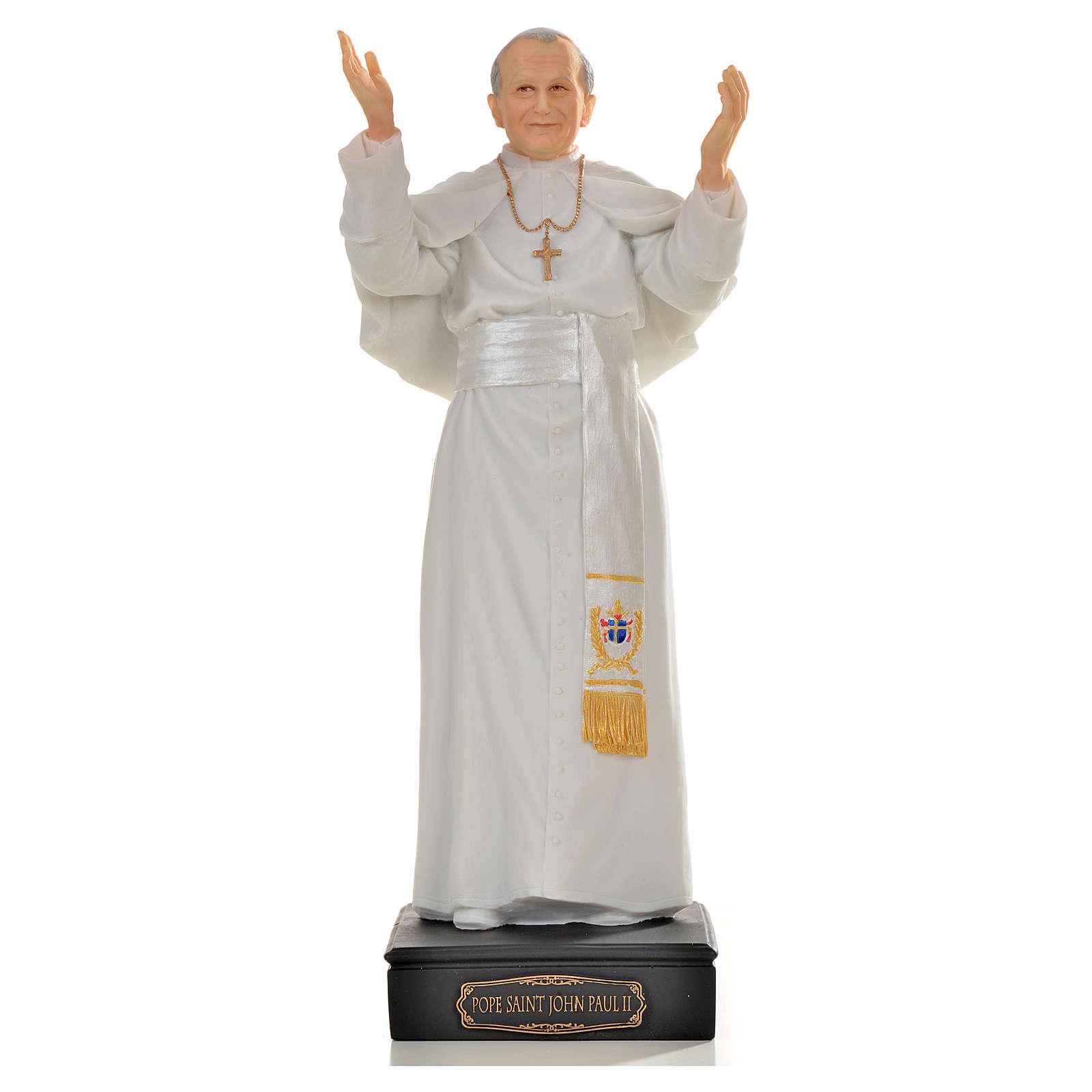 John Paul II statue in resin, 27cm 4