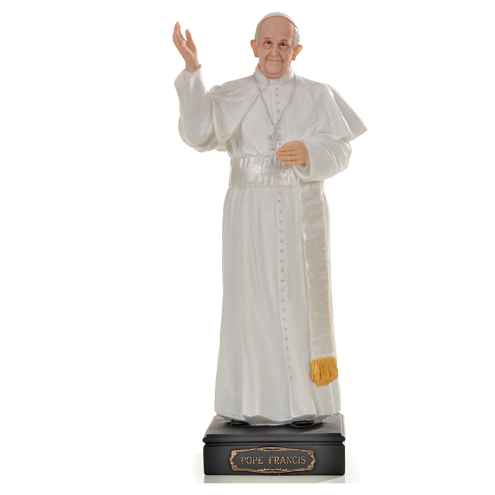 Pope Francis statue in resin, 27cm 4