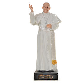 Pope Francis statue in resin, 27cm s1