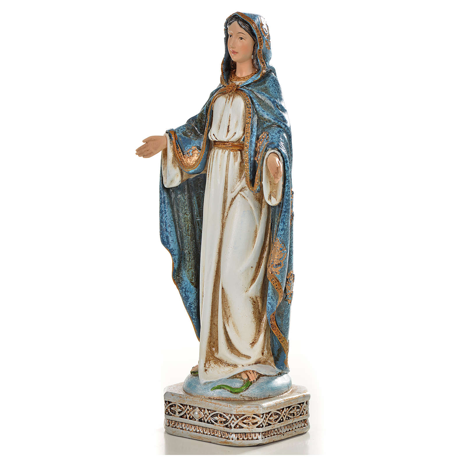 Madonna Miracolosa 20 cm resina 4