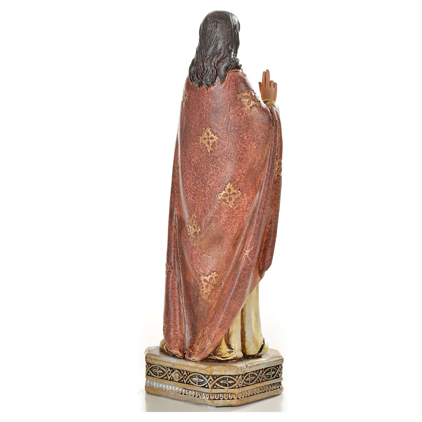 Sacred Heart of Jesus in resin, 20cm 4