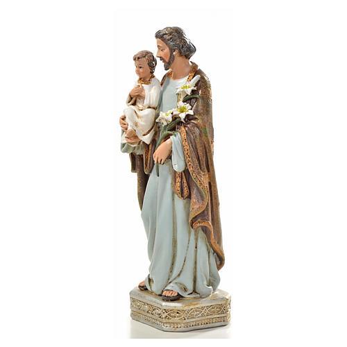 Saint Joseph à l'enfant 20 cm en résine 2