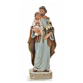 San Giuseppe con bambino 20 cm resina s1