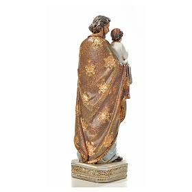 San Giuseppe con bambino 20 cm resina s3