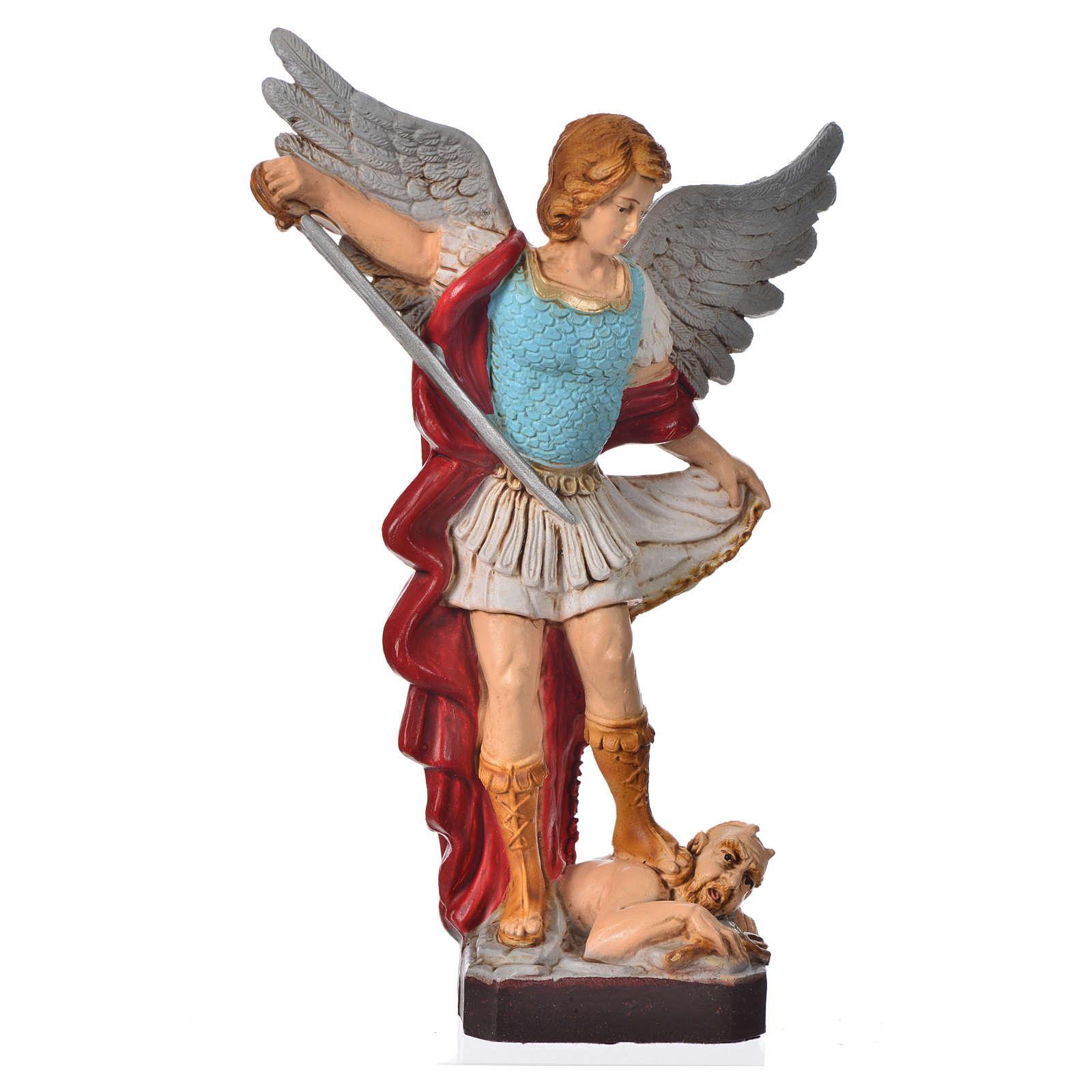Statua San Michele Arcangelo 16 cm materiale infrangibile 4