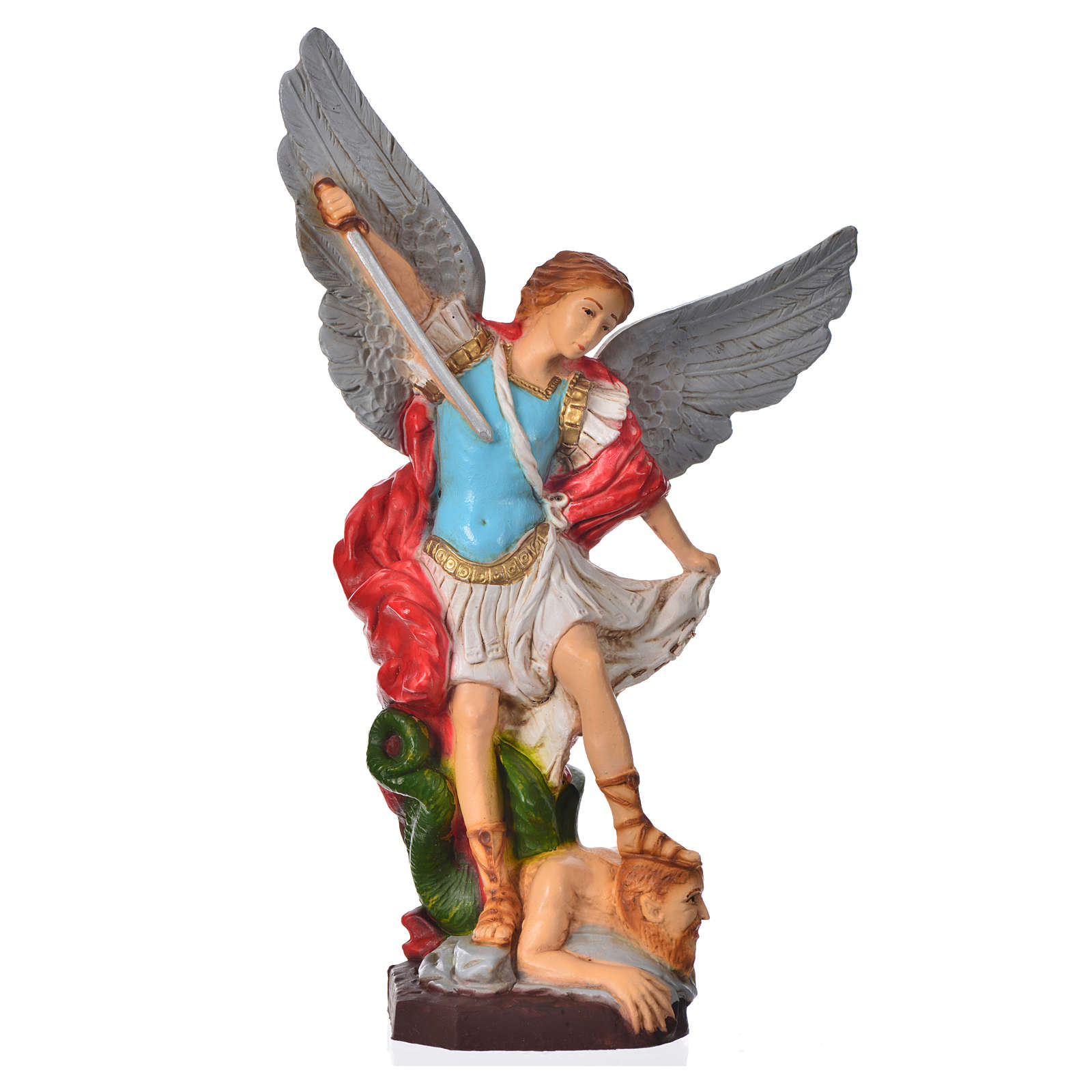 Statue Archange Saint Michel 20 cm matériau incassable 4